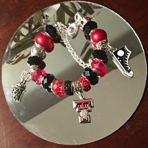 Jewelry - Texas Tech Inspired Charm Bracelet